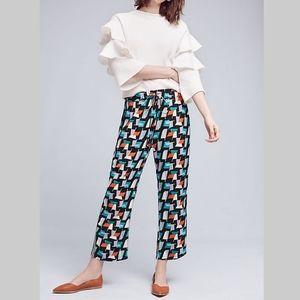 Anthropologie Hei Hei Geometric Ginza Pants